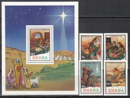 1980 Yvert Nº 765 / 768. HB 96   MNH,  Navidad,  Historias Bíblicas - Ghana (1957-...)