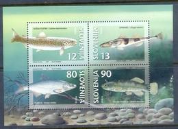 J15- Slowenien Slovenia 1997. Süßwasserfische. Fish. Foglietto. - Fishes