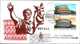 13283a)F.D.C.SAN Marino  Esposizione Filatelica Internazionale, A Roma - 25 Ottobre 1985 - FDC