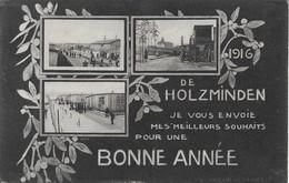 1916 De Holzminden Bonne Annee (carte De Prisonnier) - 1914-18