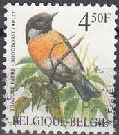 Belgique 1990 COB 2397 O Cote (2016) 0.20 Euro Traquet Pâtre Cachet Rond - Usati