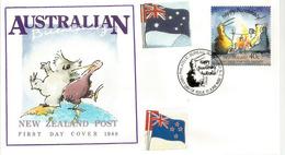 Bi-Centenaire Australie. Emission Commune Australie_Nouvelle-Zelande, Obliteration De Nouvelle-Zélande - FDC
