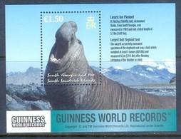 J22- South Georgia 2002 Sea Mammals S/S, Guinness World Records. - Georgia