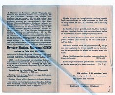 BLONDINA MINNEN ° ST.PIETERS-RODE 1894 + ROTSELAAR 1962 / FELIX VAN MEENSEL - Images Religieuses