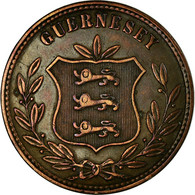 Monnaie, Guernsey, 8 Doubles, 1874, Heaton, Birmingham, TTB, Bronze, KM:7 - Guernesey