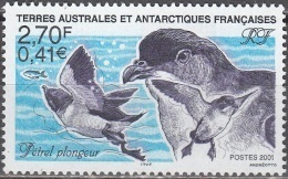 TAAF 2001 Yvert 288 Neuf ** Cote (2015) 1.30 Euro Pétrel Plongeur - Terres Australes Et Antarctiques Françaises (TAAF)