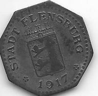 *notgeld Flensburg 10 Pfennig 1917 Zn  4090.6/ F131.3a - [ 2] 1871-1918 : Empire Allemand