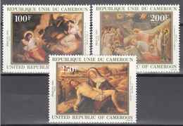 1982 Yvert Nº 681 / 683  MNH,  Pinturas De  Delacroi, Giotto, Bellini, - Camerún (1960-...)