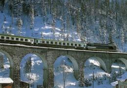 RU CT 14 - Train, Loco BB 67586 Sur Le Viaduc De L' Evalude Vers MOREZ - Jura - SNCF - Trains