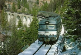 RU CT 15 - Train - Loco BB 67520 Sur Le Viaduc De L'Evalude Vers MOREZ - Jura - SNCF - Trains