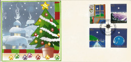 Noël Néo-Zélandais. Série Complète 1041/44  New-Zealand. FDC - Christmas