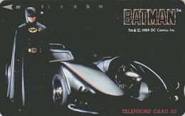 Télécarte Japon / 110-74011 - CINEMA - BATMAN & Voiture BATMOBILE Car ** ONE PUNCH ** - MOVIE Japan Phonecard - 11582 - Cine