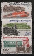 Gabon - 1981 - Poste Aérienne PA N°Yv. 247 à 249 - Trains - Neuf Luxe ** / MNH / Postfrisch - Gabun (1960-...)