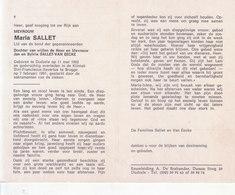 Maria Sallet (1902-1991) - Images Religieuses