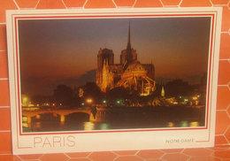 Notre Dame De Paris  Nuit Notte CARTOLINA  Non Viaggiata - Notre Dame De Paris