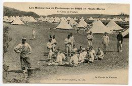 CPA MANOEUVRES DE FORTERESSE DE 1906 LE CAMP DE FOULAIN LA CORVEE DE CAROTTES HAUTE MARNE - Other Municipalities