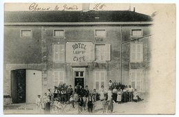 CPA CHARMES LA GRANDE HOTEL CAFE LARCHE HAUTE MARNE 52 - Autres Communes