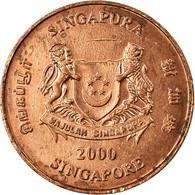 Monnaie, Singapour, Cent, 2000, Singapore Mint, TTB, Copper Plated Zinc, KM:98 - Singapore