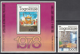 1979 Yvert Nº 989, HB,   MNH, Exposición Filatélica Internacional Londres 1980, - Togo (1960-...)