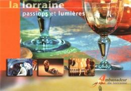 """CPM Nancy, Baccarat, Ambassadeur De """"La Lorraine, Passions Et Lumières"""" TBE 2 Scans """"La Lorraine, Couleurs Et Lumières"""" - France"""