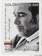 Lote 2015-4, Colombia, 2015, Sello, Stamp, Manuel Mejia Vallejo, Escritor, Writer, Journalist - Colombia