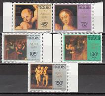 1982 Yvert Nº 1082 / 1086  MNH, Navidad, Detalles De La Virgen De Baldacchino - Togo (1960-...)