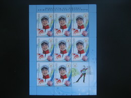 Belarus 2010. Olimpic Games Vancouver, Winners. 3 Sheets. Biathlon Freestyle Domracheva Grishin Novikov - Winter 2010: Vancouver