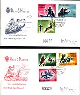 13297a)F.D.C.SAN Marino    Olimpiadi Di Tokio - 25 Giugno 1964 - FDC