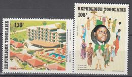 1982 Aéreo Yvert Nº 465 / 466   MNH, 15º Aniversario De La Liberación Nacional. - Togo (1960-...)
