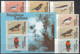 1981  Yvert Nº 1019 / 1022, A-443 / 444,  HB 150  MNH,  Aves, Distintos Pájaros. - Togo (1960-...)