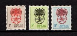 PAPUA  NEW  GUINEA    1962    Malaria  Eradication    Set  Of  3    MH - Papua New Guinea