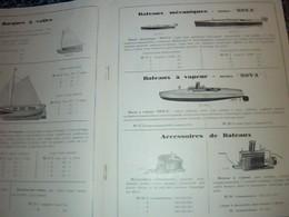 Vieux Papier  Publicité VIEUX Catalogue  FRADET Bateaux à Voile Mécanique à Vapeur CeRfs Volants Pelles De Plage Annèe ? - Publicidad