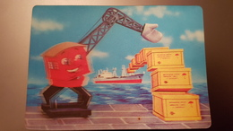 3D Stereo Lenticular Russian USSR Small Calendar 1973 Black Sea Steamship Company - Advertising - Kalenders
