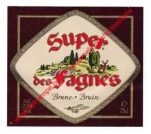 Super Des Fagnes Brune Bruin - Du Bocq Brouwerij Brasserie - Bier