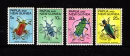 PAPUA  NEW  GUINEA    1967    Bettles    Set  Of  4    MNH - Papoea-Nieuw-Guinea