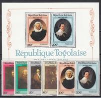 1981  Yvert Nº 1014 / 1017, A-440 / 441,  HB 148  MNH,  Pinturas De Rembrandt - Togo (1960-...)