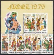 1979  Yvert Nº 946 / 948, A-377 / 379,  HB 126  MNH, Navidad,  Pascua De Resurrección - Togo (1960-...)