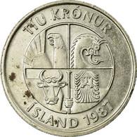 Monnaie, Iceland, 10 Kronur, 1987, TB, Copper-nickel, KM:29.1 - Island