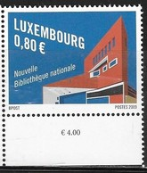 LUXEMBOURG, 2019, MNH, LIBRARIES, NEW NATIONAL LIBRARY, 1v - Architecture