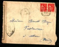 Censure PC 241 - Perpignan - Lettre Du 20/06/1940 Avec Correspondance - Arrivée Des Troupes En Retraites à Saint Estève - Marcofilie (Brieven)