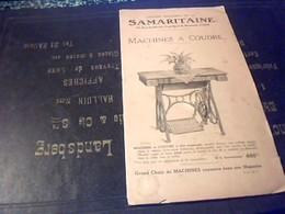 Vieux Papier  Publicité Catalogue Grands Magasins De  La Samaritaine    Machines à Coudre   Et A écrire 15 Pages - Publicités