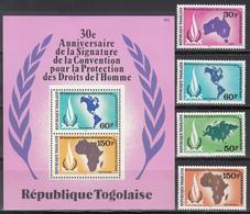1980  Yvert Nº 997 / 998, A- 434 / 435,  HB 142  MNH, 30º Aniversario De La  Protección De Los Derechos Humanos - Togo (1960-...)