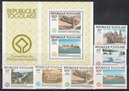 1980  Yvert Nº 1044 / 1047, A- 454 / 455, HB 152 MNH,  Año Del Patrimonio Mundial - Togo (1960-...)