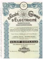 Titre Ancien - Société Coloniale D' Electricité - Société Congolaise à Responsabilité Limitée - Titre De 1951 - Afrique