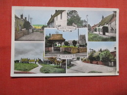 Greetings From Creaton   Has Stamp & Cancel     -ref    3574 - Northamptonshire