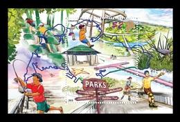 Singapore 2019 Mih. 2630 (Bl.254) Parks. Fauna. Bird. Fishing. Roller Skating MNH ** - Singapur (1959-...)