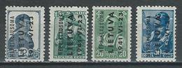 Litauen Mi 3-6  ** MNH - Occupation 1938-45
