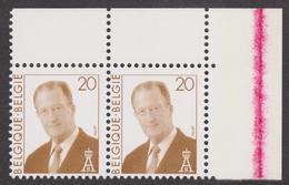 Belgique 2787 ** (2) Gedecentreerd - Décentré + Lidteken Op Kin / Menton - Errors And Oddities
