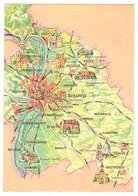 B1L1 Hungary Magyarorszag Map Budapest - Hongarije