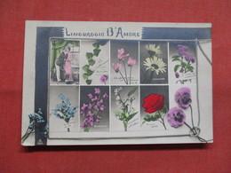 RPPC  Linguaggio D' Amore     -ref    3574 - Flowers